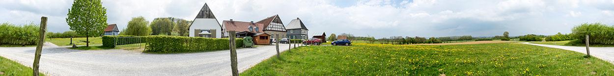 Das fertige Panorama - Das Motiv ist das Freilichtmuseum in Detmold