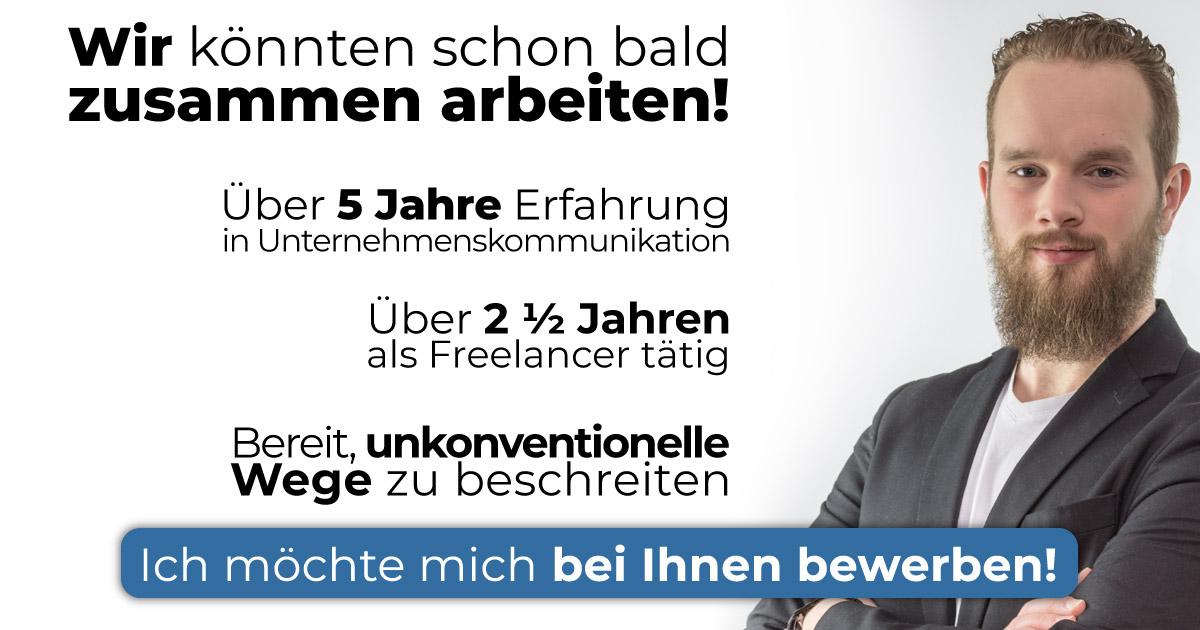 Als Medienberater durfte ich über 5 Jahre für die Firma Jacob Schaltschränke GmbH & Co. KG arbeiten. Seit 2015 auch als Freelancer in den unterschiedlichsten Bereichen.