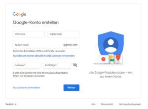 Für die Nutzung der Google-Dienste braucht Ihr einen eigenen (oder einen Unternehmens-) Google-Account.